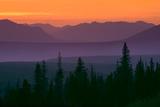 Sunset over Kluane Mountains Near Haines Highway British Columbia Canada Summer Premium fotografisk trykk av  Design Pics Inc