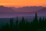 Sunset over Kluane Mountains Near Haines Highway British Columbia Canada Summer Stampa fotografica di  Design Pics Inc