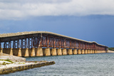 The Old and Retired Bahia Honda Bridge Fotografisk tryk af Mike Theiss