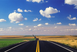 A Deserted Asphalt Road and Picturesque Landscape Photographic Print by Jim Reed