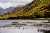 People Fishing in Kylemore Lough in Connemara, Ireland Photographic Print by Chris Hill
