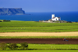 Church at Ballintoy on the North Coast of Northern Ireland Fotografisk trykk av Chris Hill