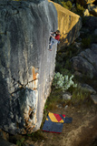 A Man Climbs Creaking Heights, a Highball Boulder Problem in the Cederberg Wilderness Area Reproduction photographique par Keith Ladzinski