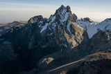 An Aerial View of Mount Kenya and What Remains of its Once Prominent Glaciers Photographic Print by Pete McBride