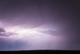 Cloud-To-Cloud Lightning Wriggles across the Sky Photographic Print by Jim Reed