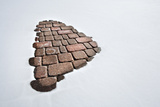 Part of a Brick Path in Snow Photographic Print by Jim Reed