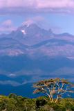 Mount Kenya in a Purple Cloud Haze Photographic Print by Shannon Switzer