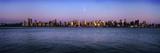 Moon over Midtown Manhattan Skyline at Dusk Fotografisk trykk av  Design Pics Inc