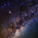 The Milky Way, Scorpius, Sagittarius, Lagoon Nebula, Sagittarius Star Cloud, and Antares Fotografisk tryk af Babak Tafreshi