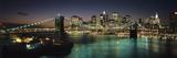 Brooklyn Bridge and Lower Manhattan at Dusk from Manhattan Bridge Fotografisk trykk av  Design Pics Inc