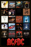 AC/DC Discography アートポスター