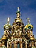 Ornate Exterior of Church of Spilled Blood; Saint Petersburg, Russia Valokuvavedos tekijänä  Design Pics Inc