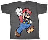 Youth: Super Mario- Crayon Mario Shirt
