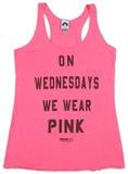 Women's: Mean Girls- Pink Tank Top Ermeløse toppen for damer