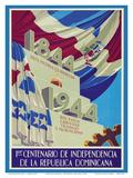Dominican Republic - 1844-1944 - 1er Centenario de Independencia (1st Centennial of Independence) Poster av Tuto Baez