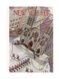 The New Yorker Cover - March 16, 1935 Premium Giclée-tryk af Constantin Alajalov