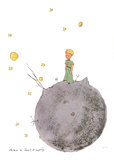 Le Petit Prince et son Asteroide Serigrafía por Antoine de Saint Exupery