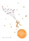 Petit Prince et les Oiseaux Sauvages Serigrafi (silketryk) af Antoine de Saint Exupery