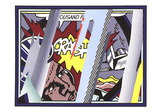 Reflections on Crash Láminas por Roy Lichtenstein