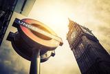 Underground and Big Ben Fotografie-Druck von  prochasson