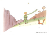 Le Petit Prince et le renard Serigrafi (silketryk) af Antoine de Saint Exupery