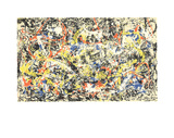 Konvergens Serigrafi (silketryk) af Jackson Pollock