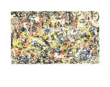 Sammanstrålande Serigrafiprint (silkscreentryck) av Jackson Pollock