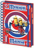 Minions - British A5 Project Book Notizbuch
