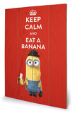 Minions - Keep Calm Wood Sign