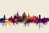 Oxford England Skyline Posters by Michael Tompsett