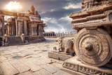 Stone Chariot in Hampi Photographic Print by Marina Pissarova