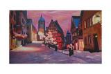 Romantic Rothenburg Tauber Germany Winter Dream La Affiches par Markus Bleichner