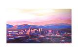 Phoenix Arizona Skyline at Dusk with Phoenix Mount Art par Markus Bleichner