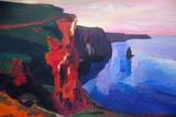 Cliffs of Moher in County Clare Ireland at Sunset Art par Markus Bleichner