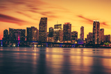 City of Miami at Sunset Fotografie-Druck von  prochasson