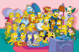 The Simpsons Sofa Cast Poster