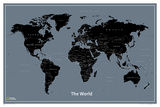 National Geographic Modern World Map Julisteet