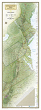 National Geographic Appalachian Trail Map Affiches