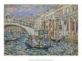 Rialto, Venice, 1911 Prints by Maurice Prendergast