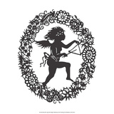 Silhouette of Fairy Angel in Flower Garland II Posters