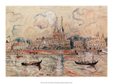 View of Venice, 1929 Prints by Paul Signac