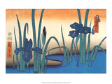 Iris Art par Utagawa Hiroshige
