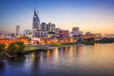 Nashville, Tennessee, USA Downtown Skyline on the Cumberland River. Photographic Print by  SeanPavonePhoto