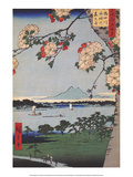 Suigin Grove & Masaki on the Sumida River Print by Utagawa Hiroshige