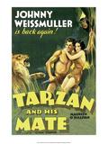 Vintage Movie Poster, Tarzan and his Mate Art