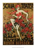 Vintage Poster Advertising Scala Theatre Prints