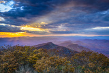 Blue Ridge Mountains in North Georgia, USA in the Autumn Season at Sunset. Photographic Print by  SeanPavonePhoto