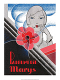 Vintage Art Deco Label, Parfumerie Marys ポスター