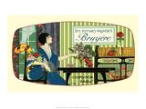 Vintage Art Deco Label, Les Fleurs Nicoises Póster