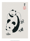 Chinese Panda and Cub Pósters
